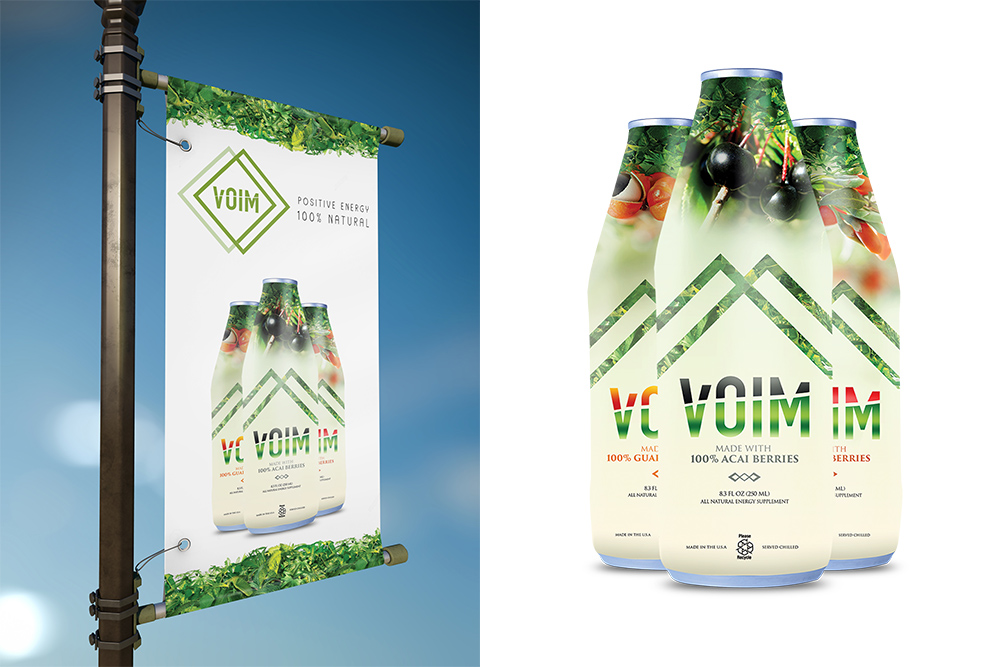 VOIM - Package Design and Pole Banner